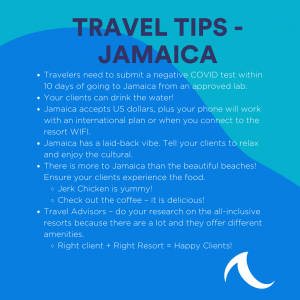Jamaica Travel Tips Sheets